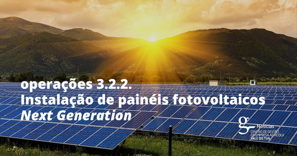 INSTALAÇÃO DE PAINÉIS FOTOVOLTAICOS - NEXT GENERATION